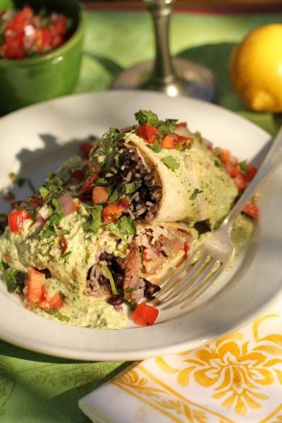 Venison Burrito Supreme