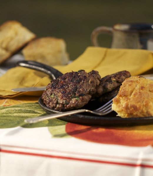Biscuits and Venison Sausage