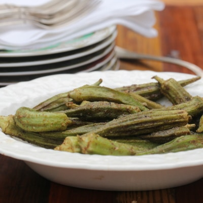Oven Roasted Okra