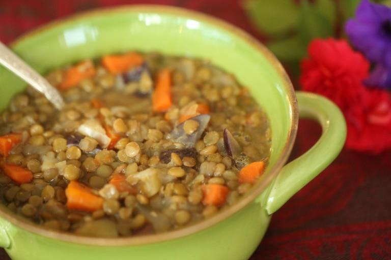 Lentil Soup with Venison and Sausage
