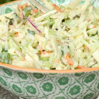Coleslaw with Mustard and Apples