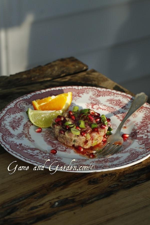 Tuna Tartare with Pomegranates