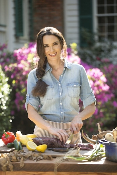 Stacy Harris preparing venison
