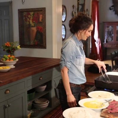 Stacy Harris' Sneak Peek Day of Filming for Sporting Chef TV Show