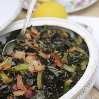 Cleaning and Cooking Collard Greens