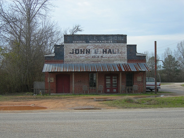 This general store still remains in the rural South. It is about 10 miles or so from my house. I just love riding by this nostalgic store.