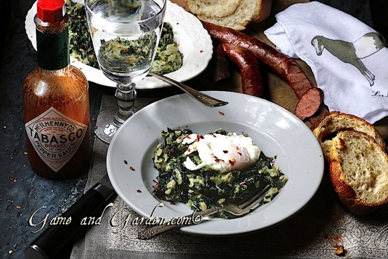 Brunch, Lunch, Anytime Recipe: Creamed Kale with Poached Egg