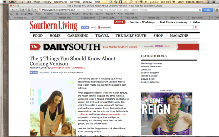Stacy Harris in Southern Living