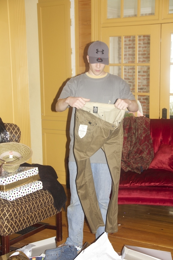 "Hunter looks at the pants and I think, ""Surely he isn't going to put these on…"""