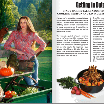 Feature Story Interview with The Outpost Magazine- Dutch Oven Cooking