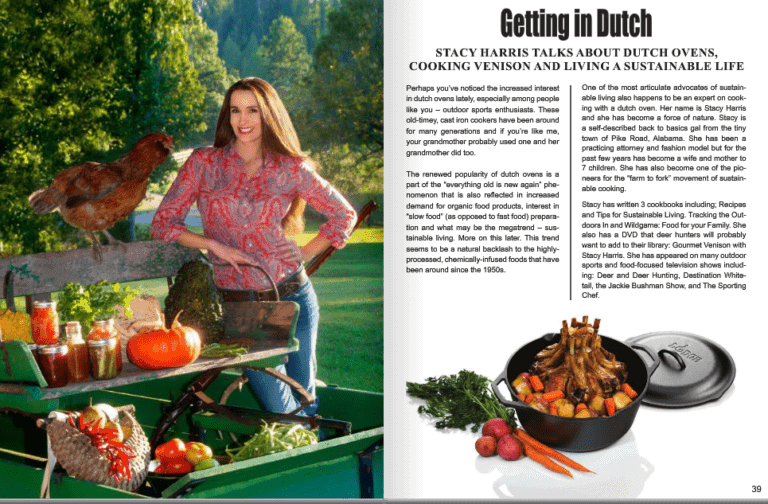 Feature Story in The Outpost Magazine- Dutch Oven Cooking