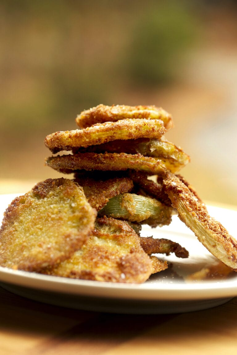 """Healthier Crunchier """"Baked"""" Fried Green Tomatoes Recipe"""