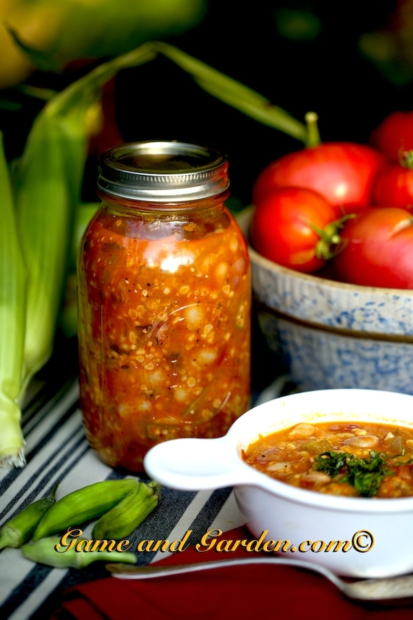Granny's Homemade Soup is fantastic to can and have on hand during the cold months. You need a pressure canner for soups, fruits, and vegetables that are low in acid.