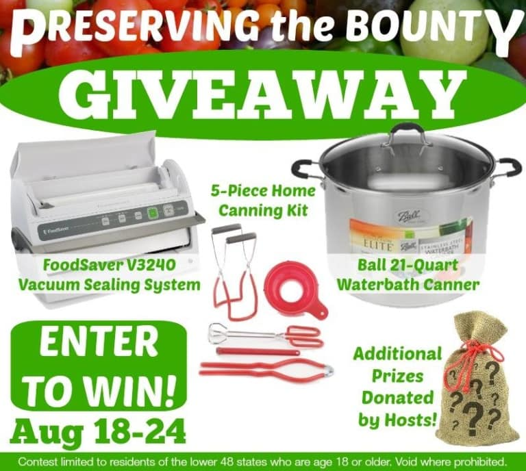 Preserving the Bounty Giveaway!!