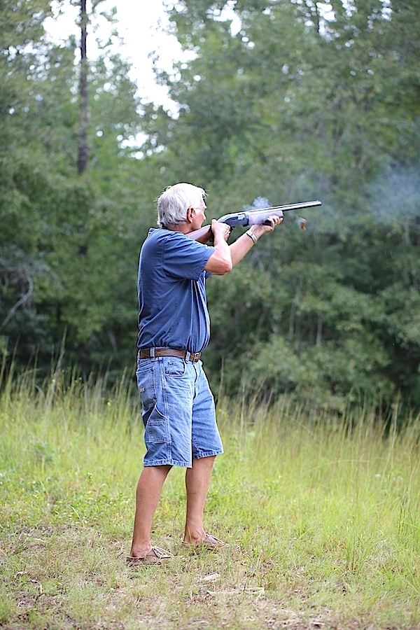 All the family participates in skeet shooting! What a fun day!