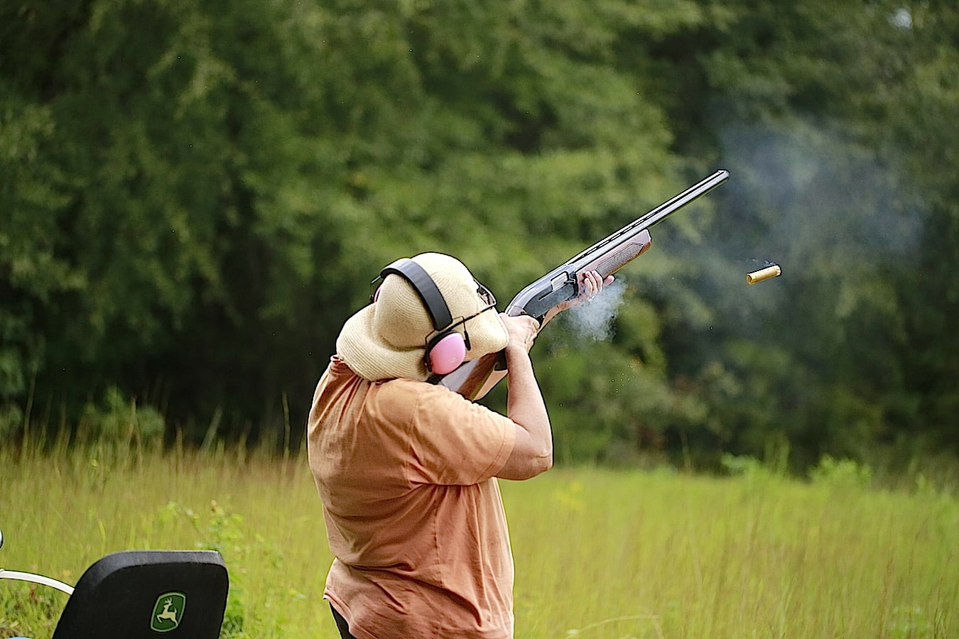 Even my mom got in on the skeet shooting action!