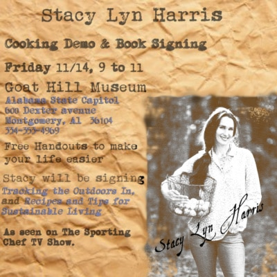 Book Signing and Cooking Demo: Friday, November 14th 9am