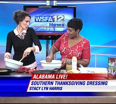 Thanksgiving Dressing on WSFA News Alabama Live – Stacy Lyn Harris