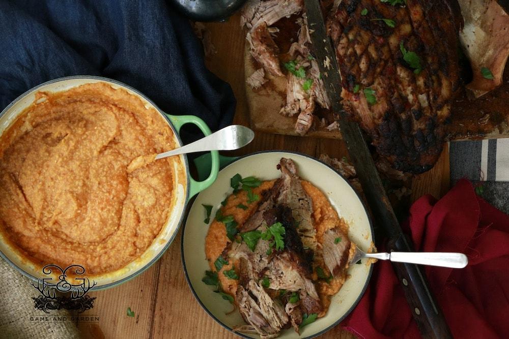 This Crusty Crock Pot Pork with Pumpkin Polenta will knock your socks ...