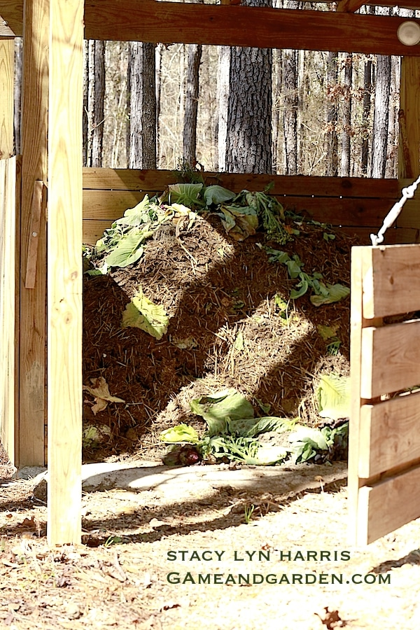 Having your compost pile next to a water source will ensure keeping the optimal temperature and moisture level for microorganisms to to do their work in breaking down the organic matter.