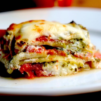 Eggplant Lasagna with Basil Pesto