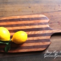Black Walnut and Cherry Heirloom Cutting Board is handmade with the hardest wood for a lasting kitchen tool to pass down to future generations.