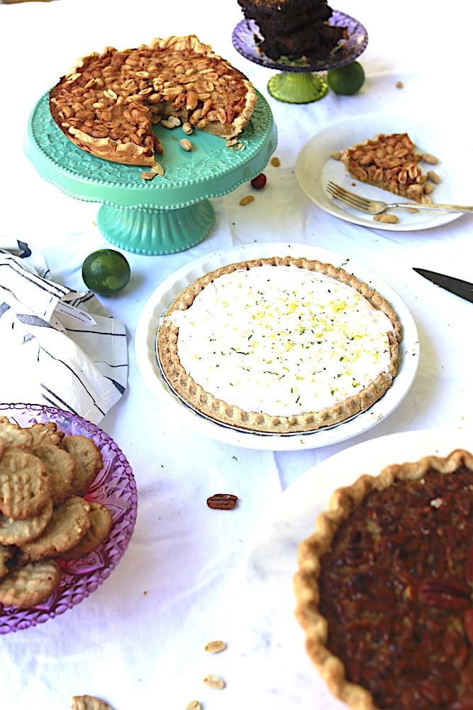 Alabama Peanut Pie looks majestic on a gracious table of desserts!