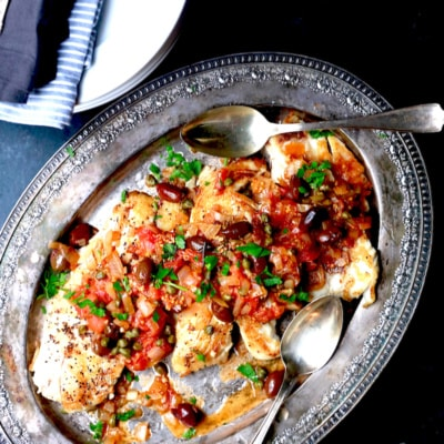 Greek Snapper can be made in less than 25 minutes. It's full of crazy amazing flavor!!