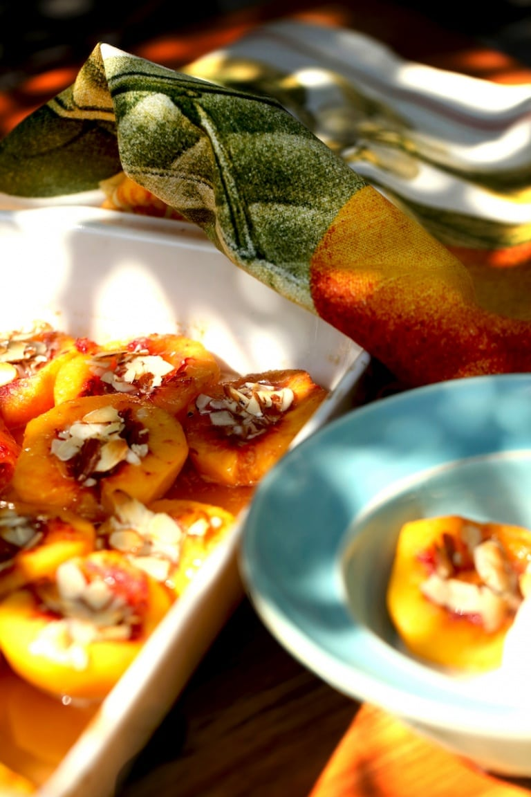 Baked Peaches with Honey and Almonds