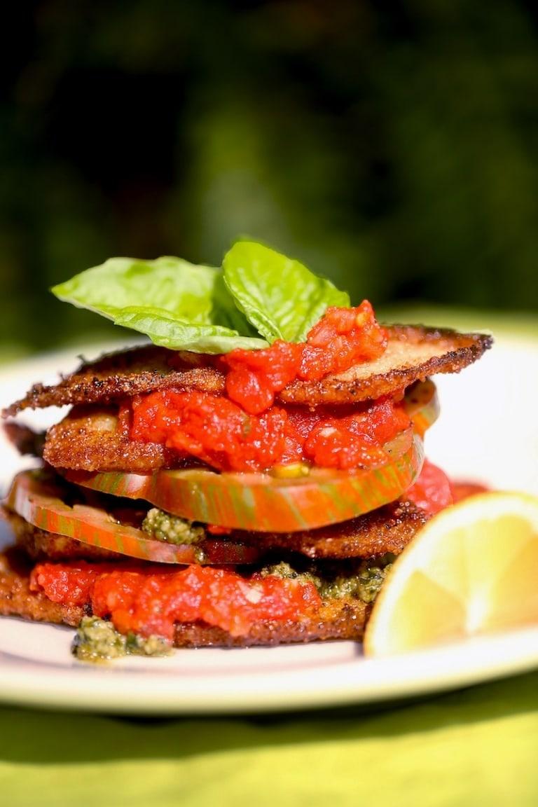 Fried Squash Recipe with Tomato and Pesto: Best Recipe Using Fresh Squash