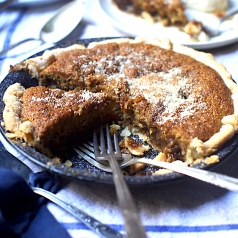 I love the chess pie texture mixed with a crumble cake-like topping this Southern Spice Pie gives!
