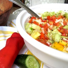 This amazing cucumber salad is super easy to make. It's perfect for picnics!
