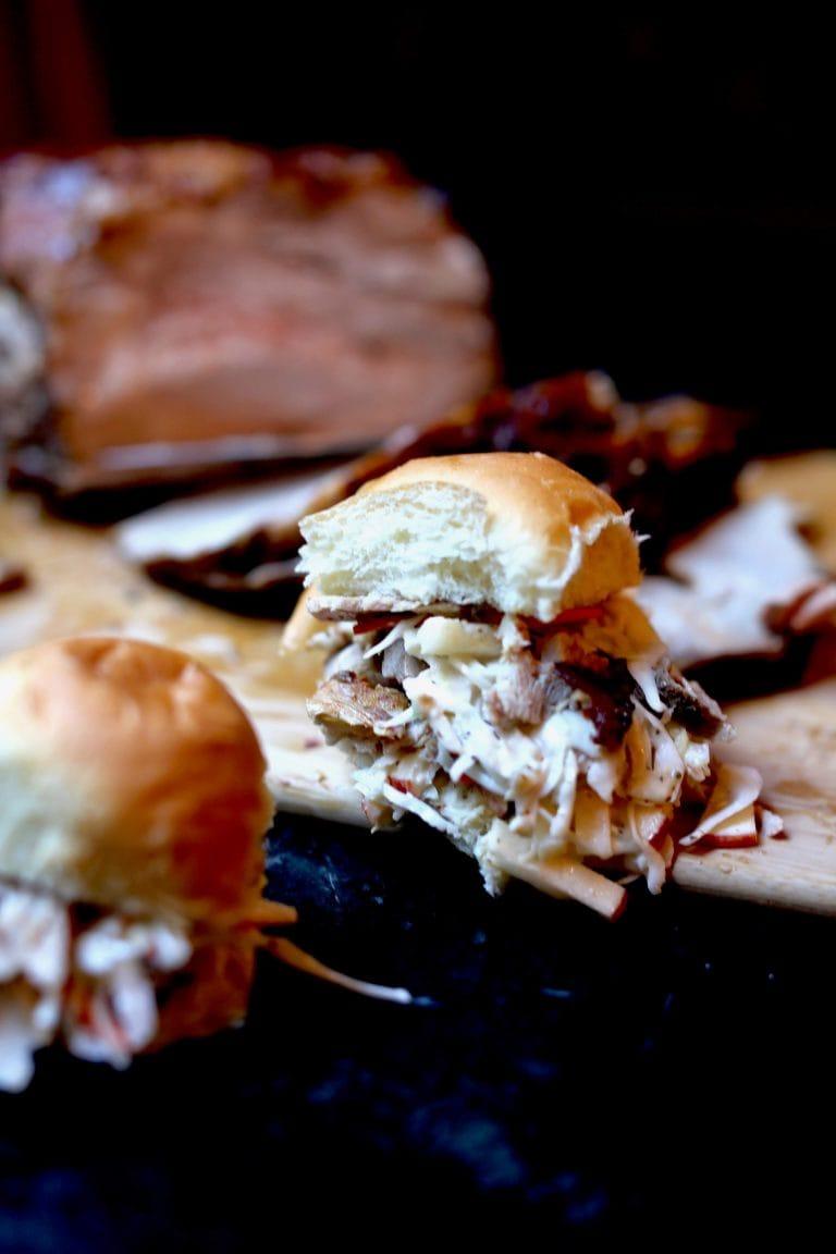 Smoky Roasted Pulled Pork Sliders