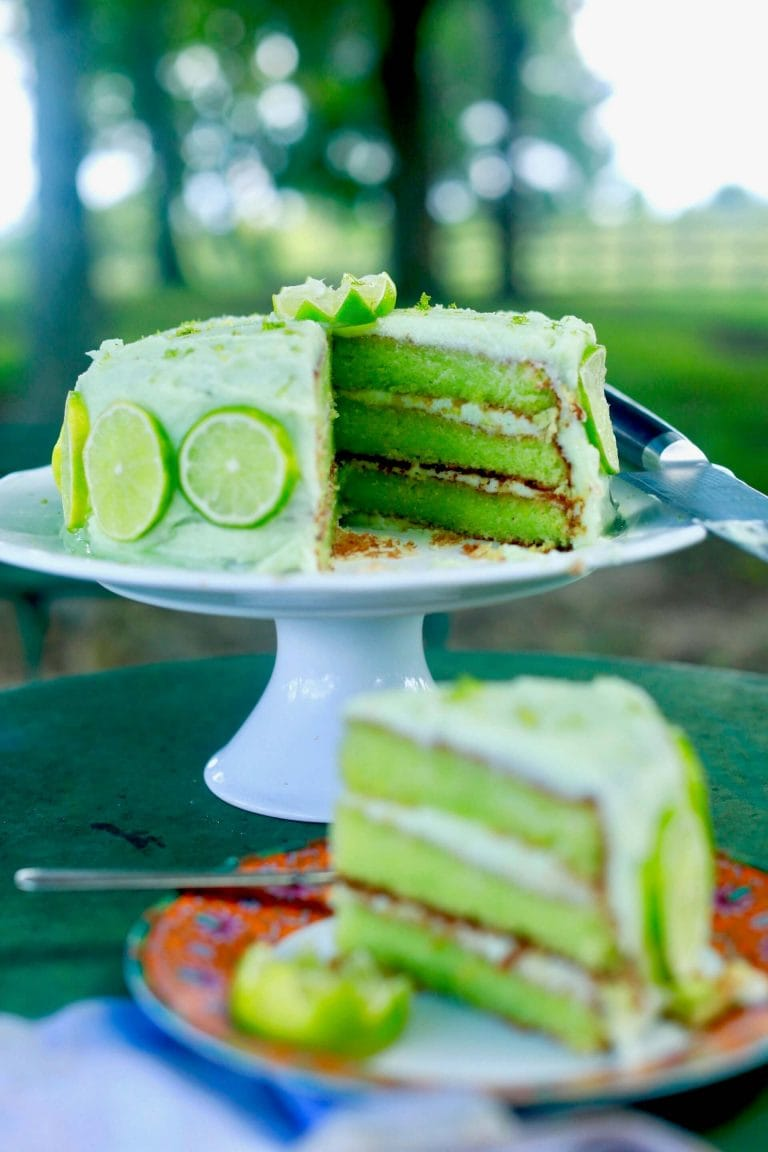 Key Lime Cake with Cream Cheese Lime Icing