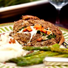 Stacy Lyn Harris stuffed venison meatloaf dish from her Harvest Cookbook