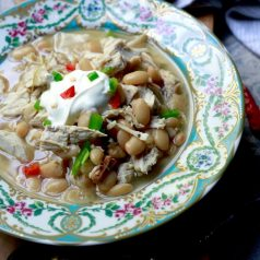 White chili with turkey, recipe by Stacy Lyn Harris