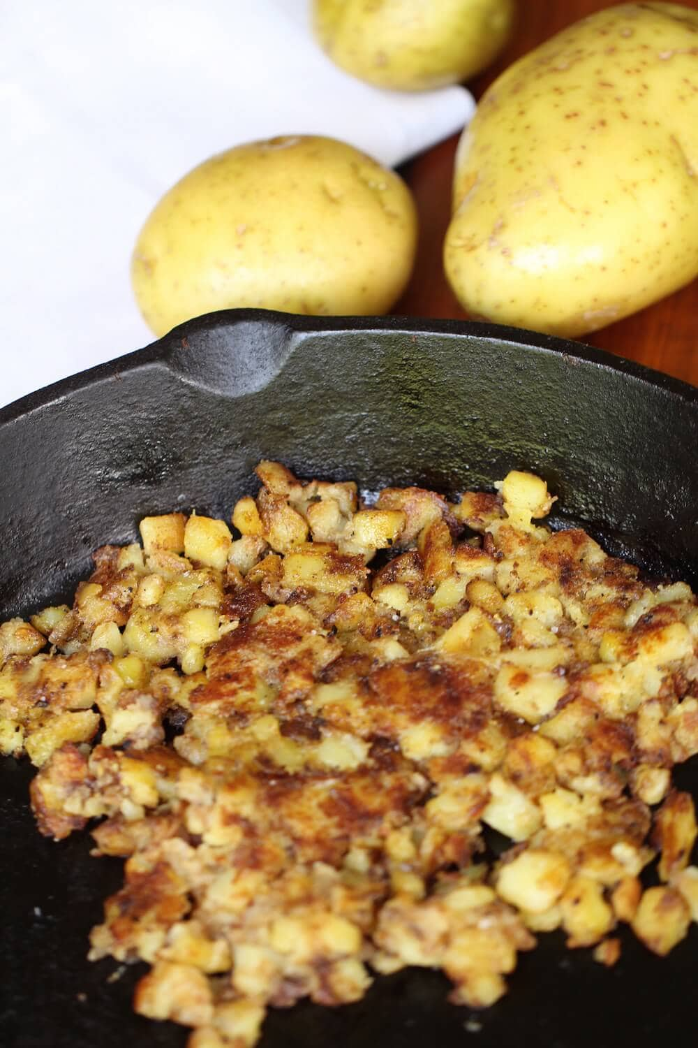 Crispy homemade hash brown breakfast dish, recipe by Stacy Lyn Harris