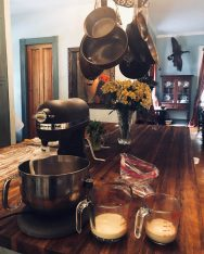 Add flour, salt and sugar to a stand mixer with a dough hook attached (recipe for how to make danish pastries by Stacy Lyn Harris)