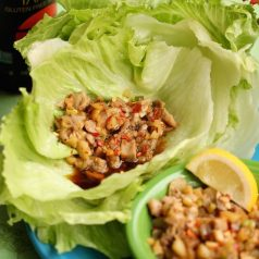 healthy lettuce wraps made with fresh quail meat, recipe by Stacy Lyn Harris
