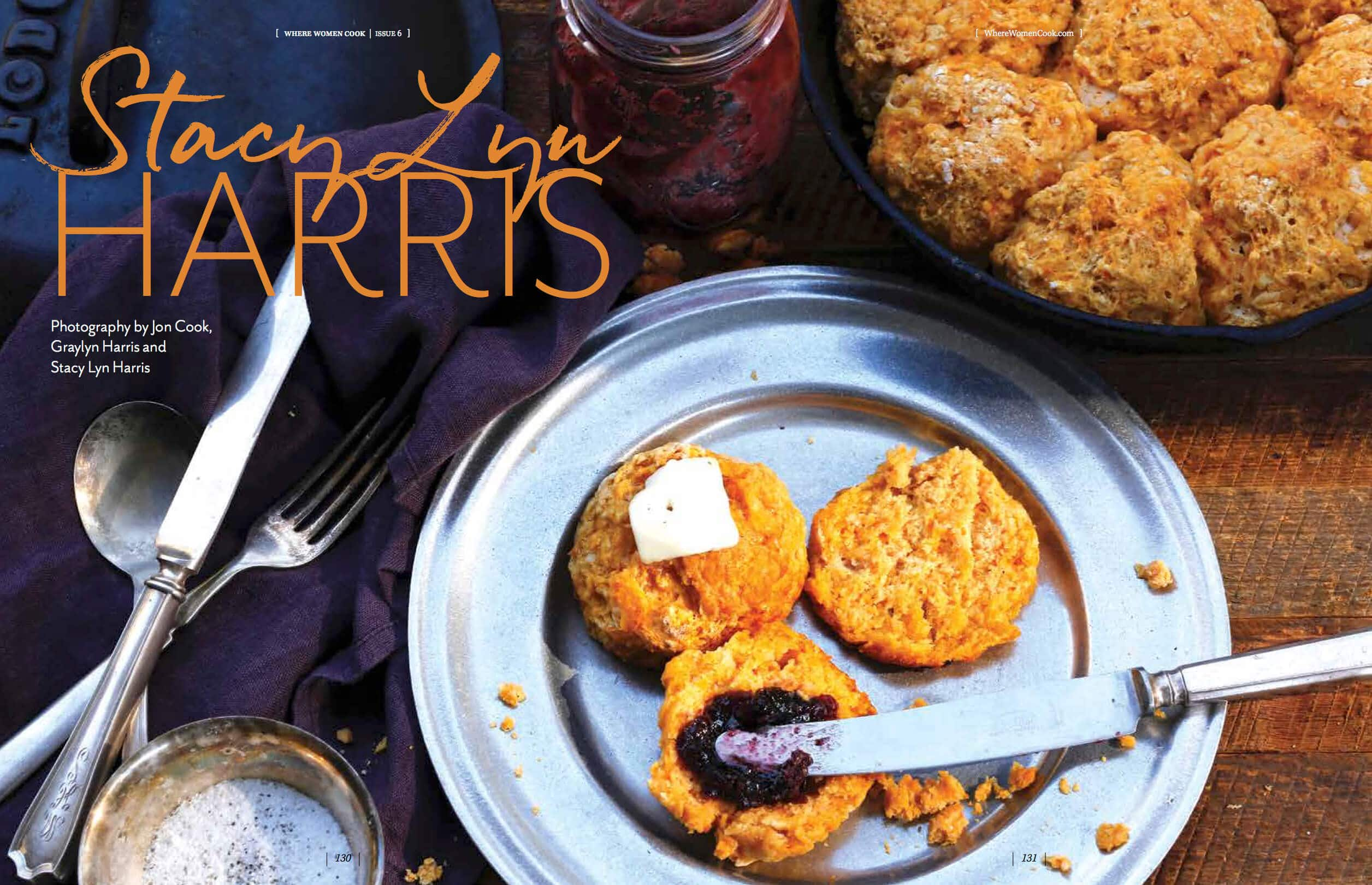 Where Women Cook Spring 2019 magazine featuring Stacy Lyn Harris