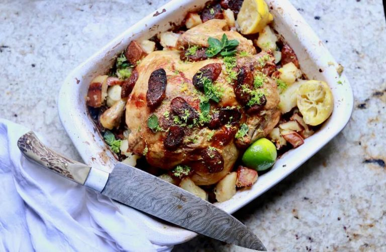 Roasted Chicken and Sausage with Gremolata
