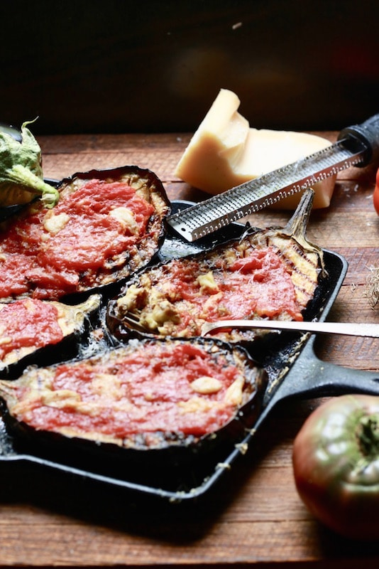 A picture of Stacy Lyn Harris's Eggplant Parmesan with Roasted Tomatoes and Garlic recipe