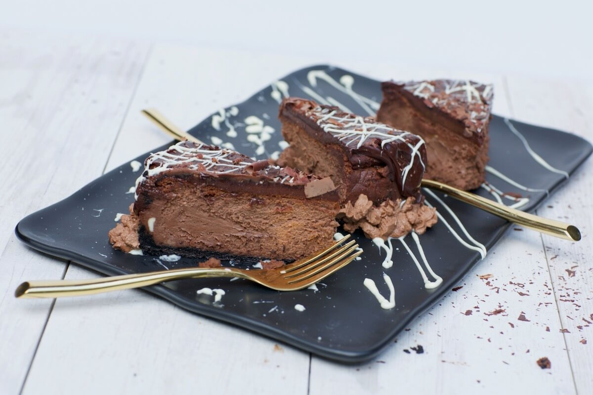 Ultimate Chocolate Cheesecake with Silky Ganache, recipe by stacy lyn harris