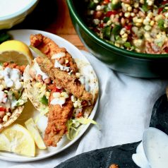 creole fried catfish tacos