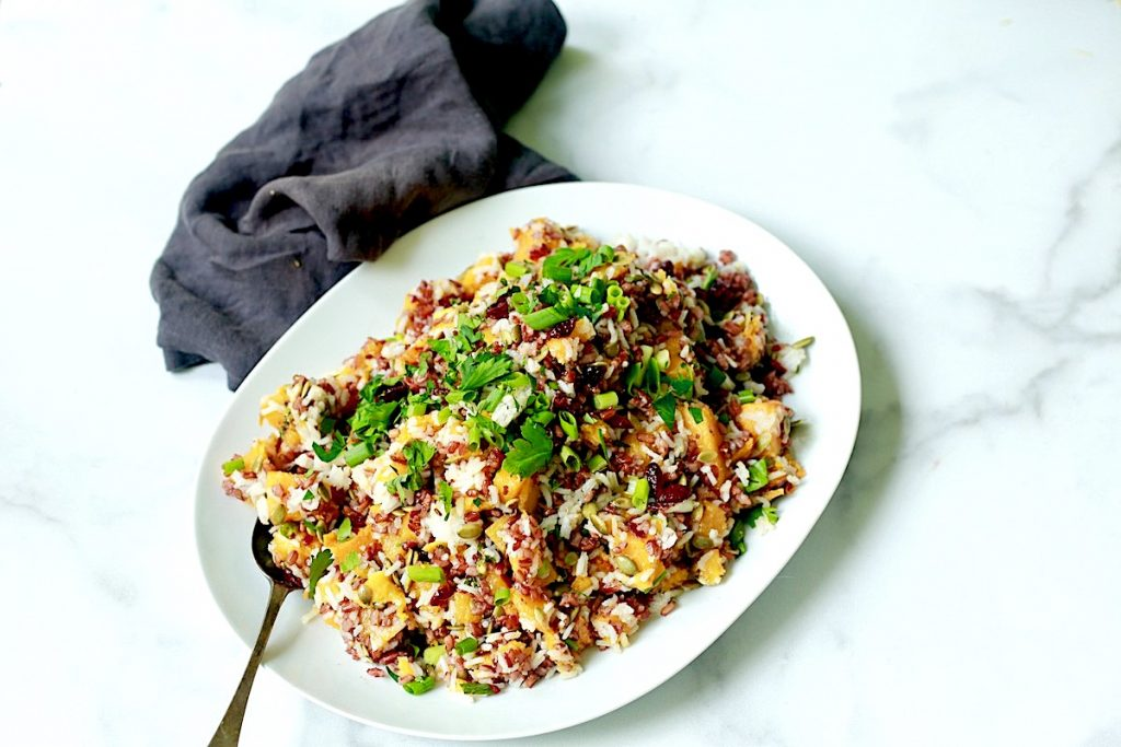 Wild Rice and Butternut Squash Salad