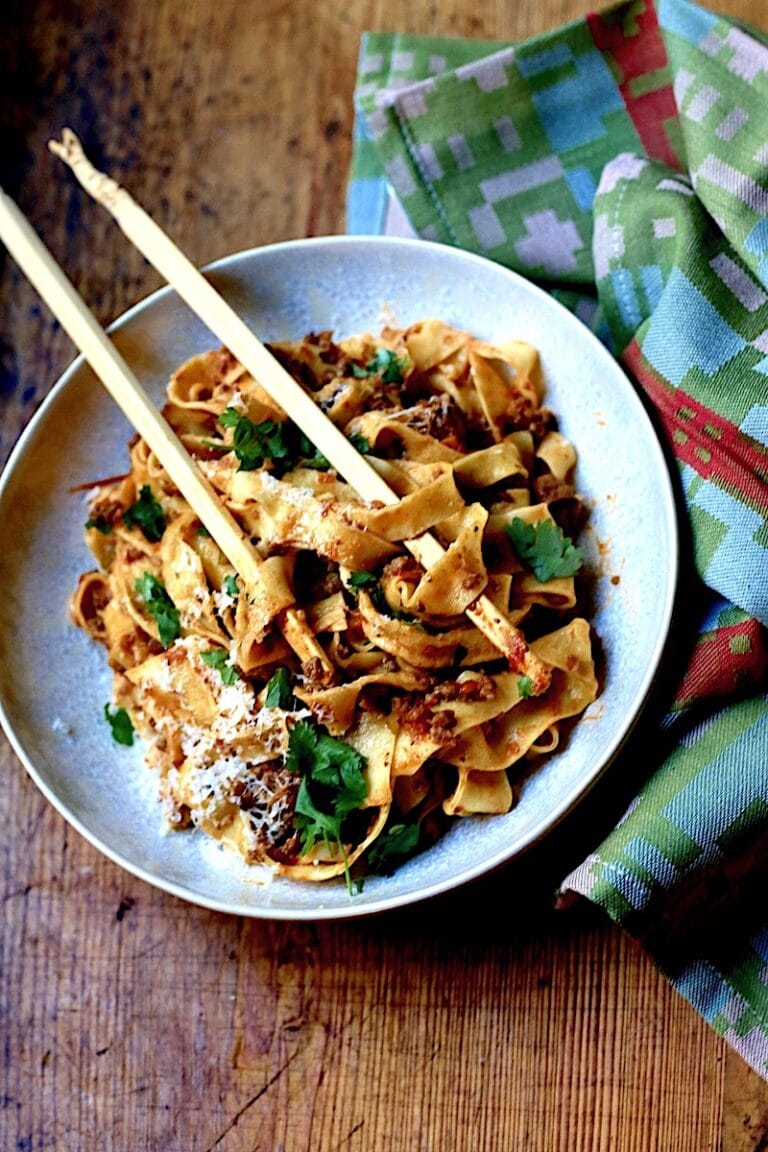 Bolognese with Venison, Beef, and Pork