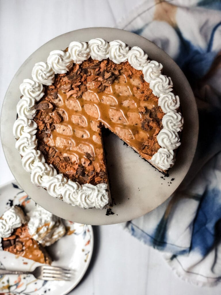 Best Butterfinger Cheesecake