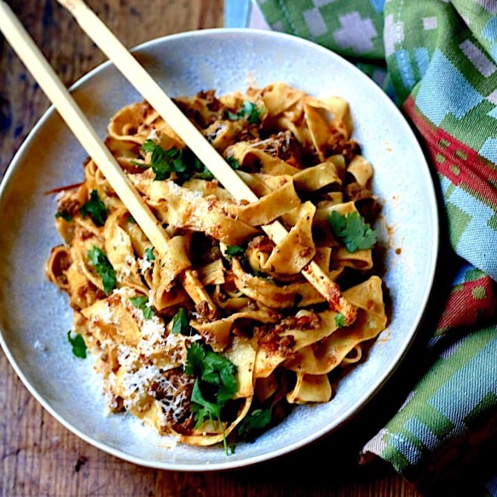 bolognese with venison and pork