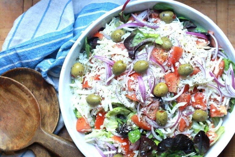 big Italian salad - a great side to serve with fish